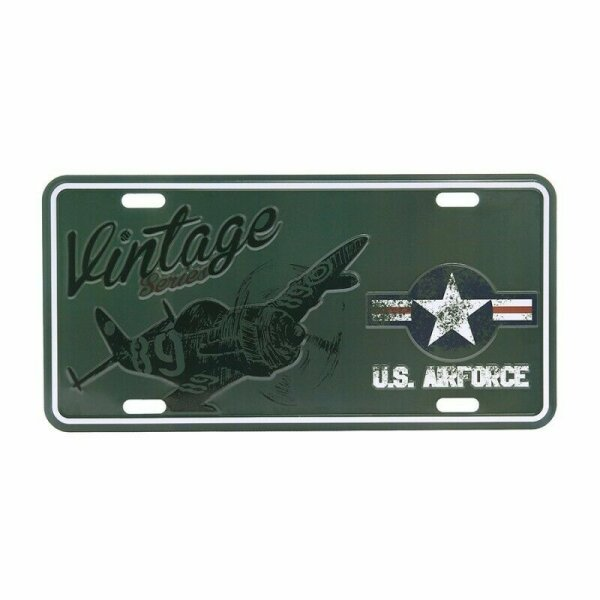 License Plate WK2 US Army Vintage Series Airforce Kokarde Bomber B9 WWII D-Day