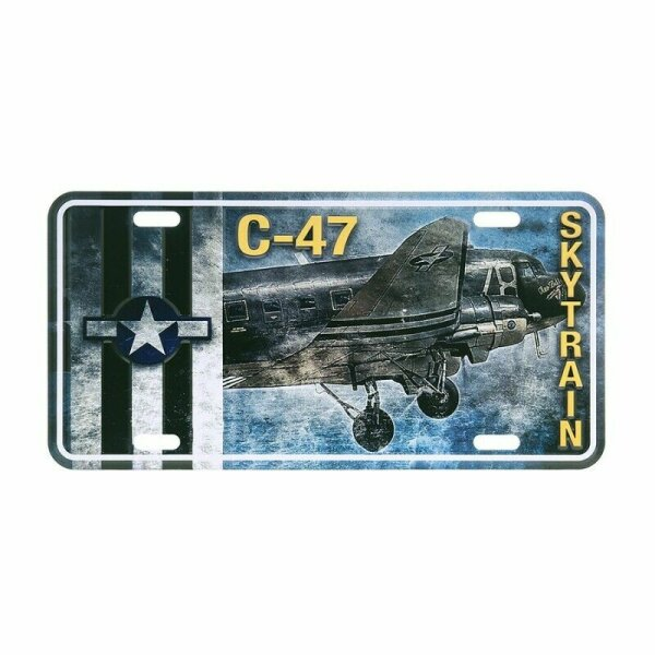 License Plate WK2 US Army Vintage Series C-47 Skytrain Bomber Airforce WWII USAF