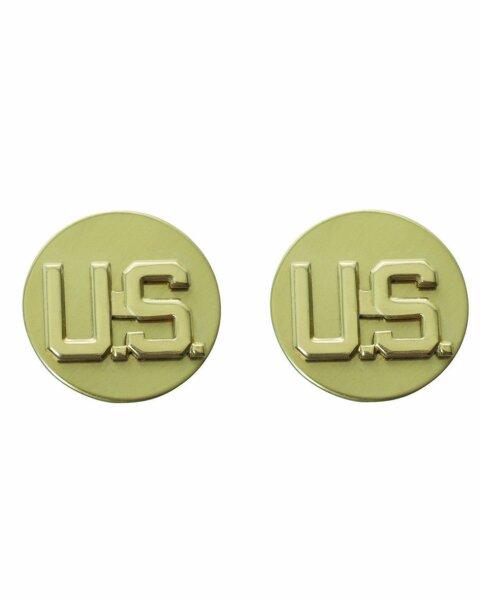 """1p US Army Rangabzeichen """"US"""" EM Mannschaften WKII WW2 Collar Badges Rank"""
