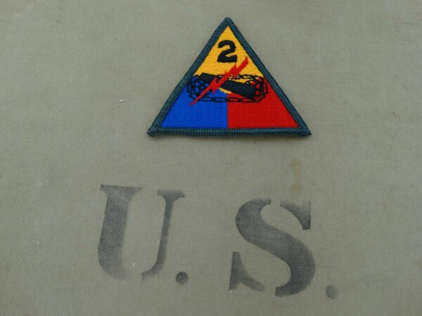 Patch 2nd Armored Division Fury Wardaddy Movie US Army Panzerjacke Tanker Jacke