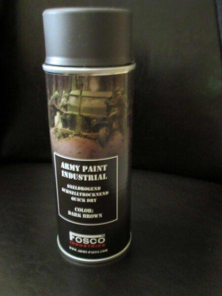 400ml (1L-16,25€) BW NATO Lack Dkl Bbraun RAL8027 Stumpfmatt Spraydose Kunsth WH