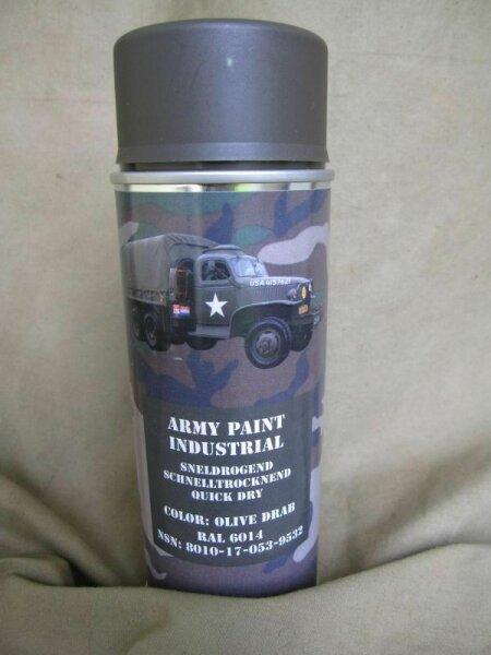 400ml (1L-16,25€) BW NATO Lack RAL6014 Olive Drap Stumpfm Spraydose Bundeswehr