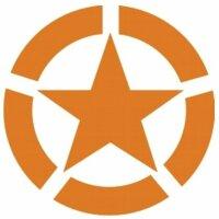 Allied Star Fahrzeug Aufkleber Orange US Army Stern US...