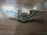 Original US Army Airforce NASM Pilot Wings Pin USAAF...