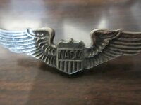 Original US Army Airforce NASM Pilot Wings Pin USAAF Marines Badge Aviator RAR