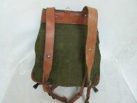 Armee Rucksack Backpack Kraxe Army Bag True Vintage Leather Canvas Camping Hiken