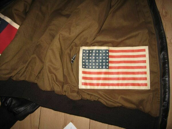 Blood Chit Patch Flagge 48 Stars US Army Airforce WK2 WWII Flight Jacket A2 G1