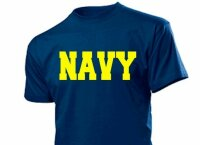 """NAVY"" T-Shirt US Army Airforce Militär Gr S-XXL Training Navy Marines Pilots #2"
