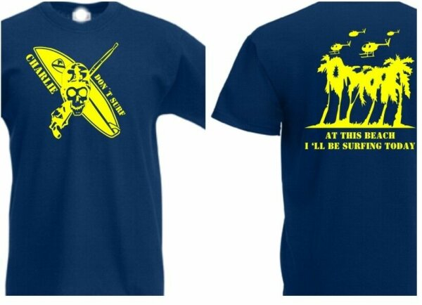 Charlie dont Surf #2 US Army T-Shirt Gr S-5XL WK2 WWII Vietnam USMC Navy