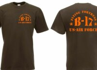T-Shirt B17 Memphis Belle Flying Fortress US Army Airforce Pilots USMC #2 3-5XL