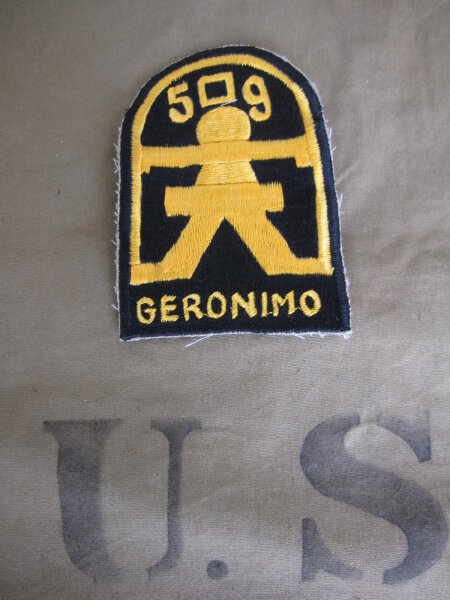 509th Airborne Infanterie Division Geronimo Parachute Insignia Patch US Army WW2