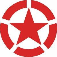 Allied Star Fahrzeug Aufkleber S Rot US Army USMC US Car...