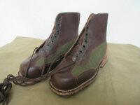 Army Service Boots Schnürstiefel True Vintage Leder...