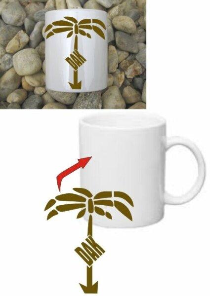 DAK Afrikakorps Kaffee Becher Tasse Wehrmacht Coffee Mug Africacorps WH WWII WK2