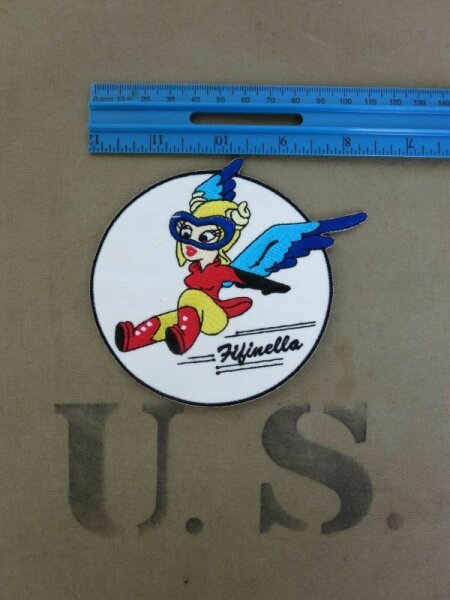 Fifinella WASP WAC Women Air Corps Pilots Patch US Army WAAC WK2 WWII Nose Art W