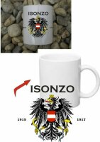 Isonzo Front Austria KuK Kaffee Becher Tasse Monarchie...