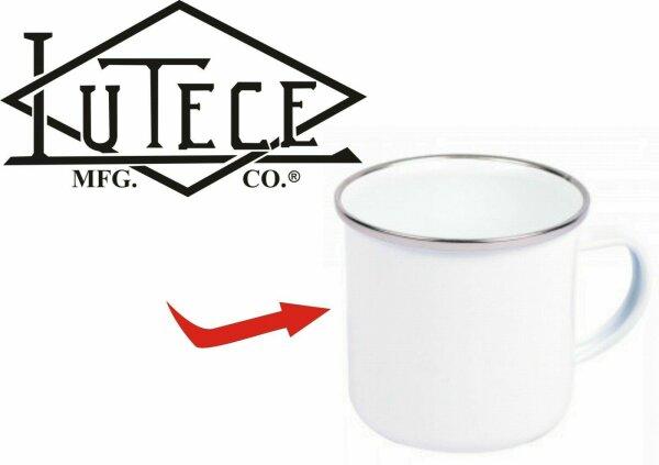 Lutece Mfg Co Quartermaster Denim US Army Emaille Tasse Kaffeetasse Coffee Mug