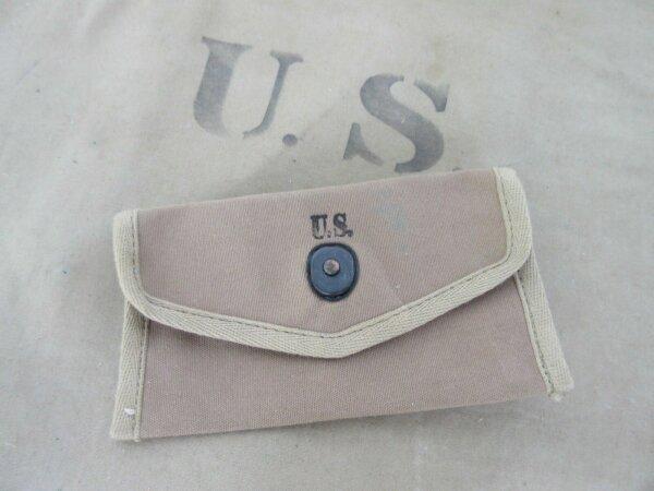 Orig US Army Verbandspäckchen Tasche f First Aid Dressing Kit Pouch Carrier Belt