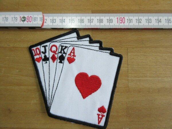 Patch Poker straight flush cards Biker Motorcycle Vintage Gambling Vegas Hot Rod