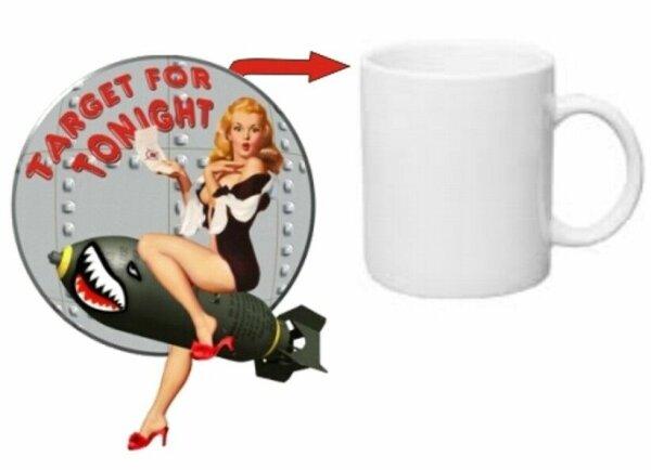 Pin-up Target for Tonight! Kaffee Tasse USMC Army Mug Seals Marines Rockabilly
