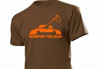 Rohrpost für Dich! Panzer Kanone Fun T-Shirt WH US Army Tank - mail for you 3-5X