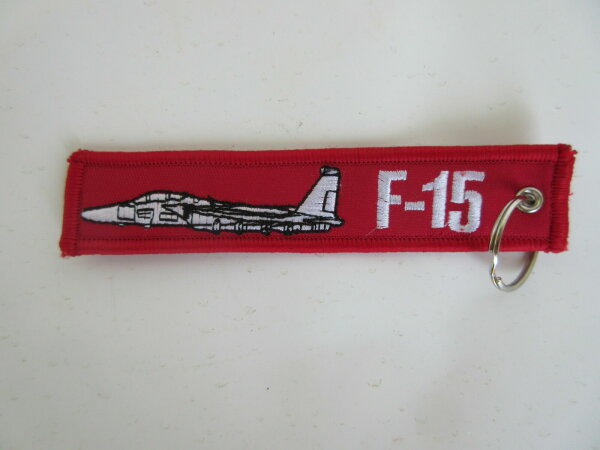 Schlüsselanhänger Kampfjet F-15 Jet Airforce Pilots US Army Key Ring Hanger