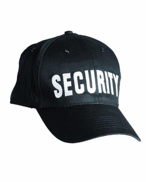 Security Baseball Cap Black Sicherheitsdienst Wachdienst Türsteher Fun