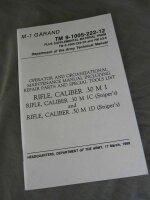 Technical Manual TDV M1 Garand Cal .30 M 1 Sniper US Army...