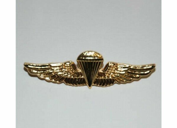 US Army Airforce Paratrooper Wings Insignia Badge Gold Navy Marines WK2 WKII