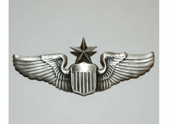 US Army Airforce Senior Pilot Wings  Pin USMC Navy Marines Collar Badge WK2 WKII