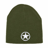 US Army Allied Star Patch Watch Cap Strickmütze Beanie Hat Round Cap WWII WK2
