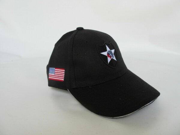 US Army Baseball Cap Black 2nd Infantry Division Indian Reserved Marines USMC WK