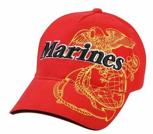 US Army Baseball Cap USMC Red Airborne Screaming Eagle USMC Marines Vietnam Rot