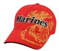 US Army Baseball Cap USMC Red Airborne Screaming Eagle...