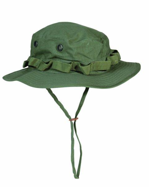US Army Camo GI Dschungelhut R/S Boonie Hat Oliv Gr L Fischerhut Anglermütze