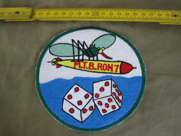 US Army Torpedo Bomber Squadron M.T.B. Ron 7 Patch USAAF Airforce USMC Navy WK2