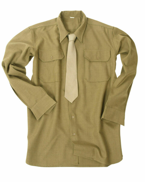 US Army Uniform M37 Feldhemd Senfbraun Mustard Shirt Fieldshirt Gr. XL WKII WW2