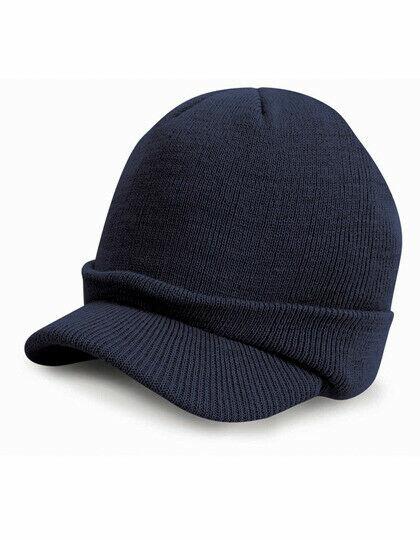 US Army Watch Cap Navy Blue Schirmmütze Strickmütze WWII WK2 Beanie Hat Boonie