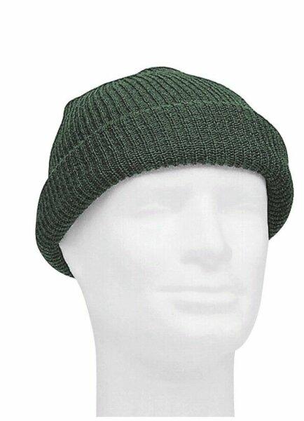 US Army Watch Cap Oliv OD One Size Strickmütze Beanie Hat Round Cap WWII WK2