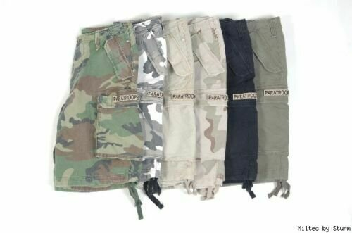 US M65 Shorts Schwarz Prewashed Paratrooper Shorts US Shorts Gr S