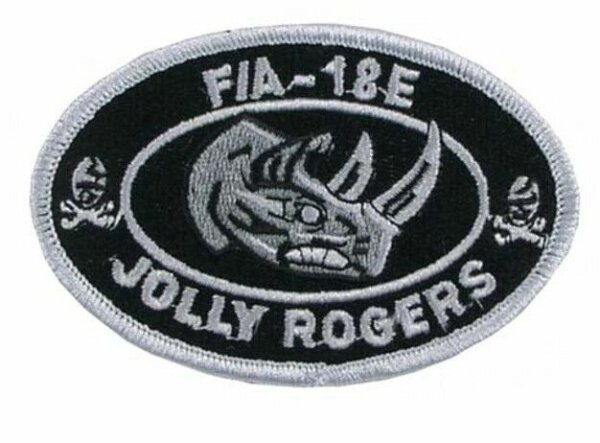 US Navy Strike Fighter Squadron Jolly Rogers F/A 18E USMC Patch Aufnäher WK2