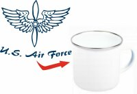 USAAF Air Corps Airforce Propeller US Army Emaille Tasse...