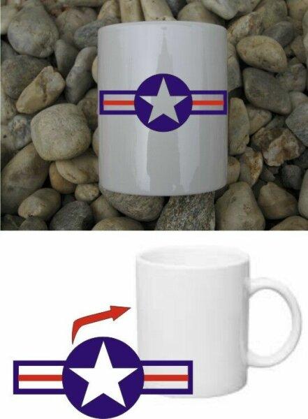 USAAF Aircorps Kokarde Kaffee Tasse USMC Army Navy Seals Marines Rockabilly