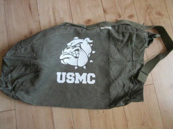 USMC Bulldogge Denim Seesack Canvas Duffle Bag US Navy Army Marines Vietnam #3