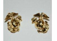 USMC Insignia Collar Badge Brass Screw B Marine Corps...