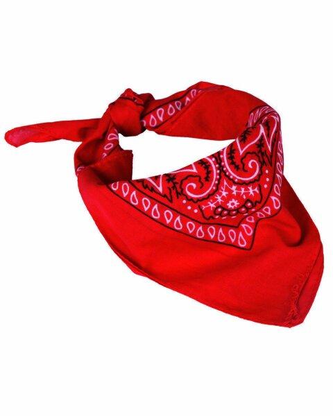 Western Halstuch Bandana Paisley Tuch Schal Headwrap Rockabilly Old School Rot