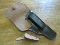 WH Pistolentasche Caliber 7.65 Offizier Pistol Holster Leather Wehrmacht WaA WW2