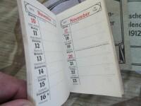 Deutscher Taschenkalender 1912 Pocket Calendar German Kaiserreich FJ WK1 WWI
