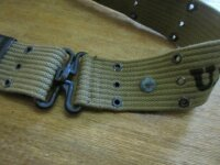 Original US Army Koppel Lochkoppel M36 Belt WK2 WWII 1942 1943 Marines Navy USMC