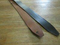 Russ. Dienst Koppel Schwarz-140cm 45mm Belt Lederkoppel Universal Ledergürtel